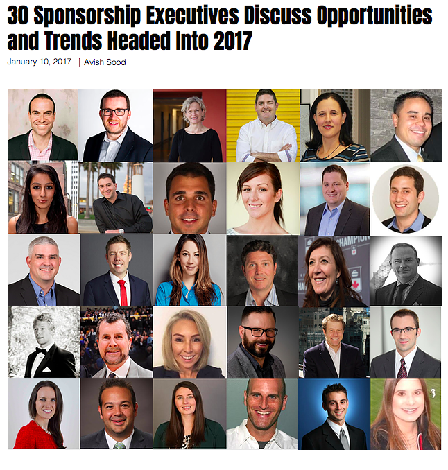 Sponsorship Trends 2017